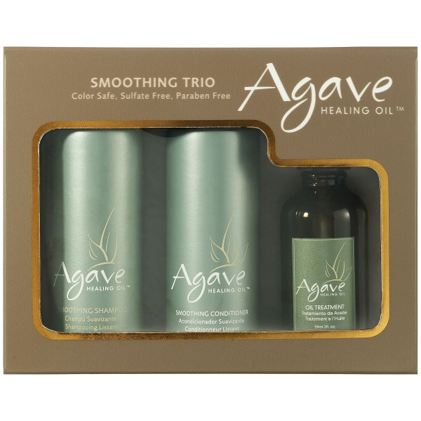 Agave Smoothing Haircare Trio mit Shampoo, Conditioner und Oil Treatment